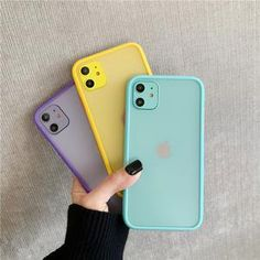 Mint Hybrid Simple Matte Bumper Phone Case for Iphone 11 Pro Max Xr Xs Max 8 7 Plus Shockproof Soft Tpu Silicone Clear Cover Iphone Bumper Case, Iphone Hard Case, Pretty Iphone Cases, Iphone Phone Cases, Iphone Case Covers, Ipod, Phone Cover, Iphone Parts, Cute Cases