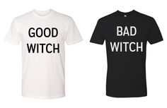 Bad Witch Good Witch BFF Halloween Tees by shirtsforlife on Etsy