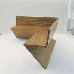 Sit Together Bench 2003 Solid iroko wood 1200 x 900 x 680mm