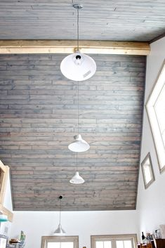 Tongue And Groove Pine Ceiling // New Home Barn Conversion