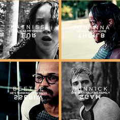It's something of a revelation that those in the Capitol feel anything at all about us. They certainly don't have a problem watching children murdered every year. But maybe they know too much about the victors, especially the ones who've been celebrities for ages, to forget we're human beings. It's more like   W A T C H I N G  Y O U R   O W N   F R I E N D S   D I E .