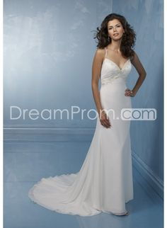 Gorgeous Sheath/Column Strapless Asymmetry-length Lace Wedding Dresses (DEX0046) - cdreamprom.com