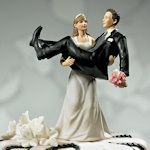To Have and to Hold Wedding Couple Cake Topper