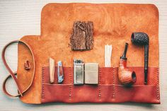 Rustic Leather Pipe Roll – Craft and Lore