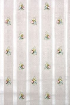 roses floral stripe vintage wallpaper from Hannah's Treasures Art Deco Wallpaper, Antique Wallpaper, Of Wallpaper, Vintage Wallpapers, Cole And Son, Floral Stripe, Retro, Abstract Backgrounds, Antiques