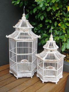 "Mandale Birdcage"" Decorative Pagody style Bamboo Birdcage Large 50cm x 70cm $149"