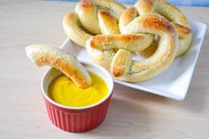 INSANELY EASY and DELICIOUS homemade Soft Pretzels- no dough rising, no boiling, and barely any kneading involved!