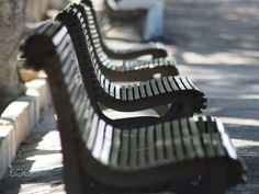 bench in a park by SettantasetteOnFilm on 500px