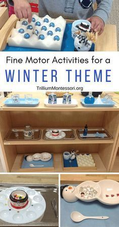 Fine motor activities for a winter theme in January