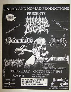 Morbid Angel - Entombed - Unleashed - Dethshit - Affliction! What A Killer Lineup! m/