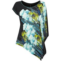 Karen Millen Oversized Floral T-shirt (38.000 CLP) ❤ liked on Polyvore featuring tops, t-shirts, shirts, blusas, multicolour, print t shirts, pattern t shirt, floral t shirt, oversized t shirt and floral print shirt