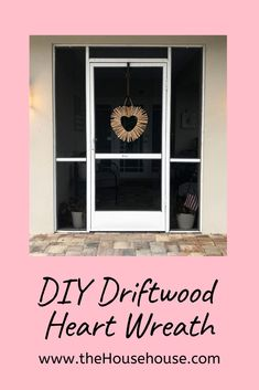 - DIY Driftwood Heart Wreath - the House house Valentine Wreath, Valentine Day Crafts, Printable Valentine, Valentine Box, Valentine Ideas, Diy Wreath, Wreaths, Diy Christmas Gifts For Kids, Driftwood Crafts