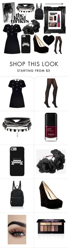 """""""x bitter sweet symphony 01"""" by prinzessinhyperia ❤ liked on Polyvore featuring Miss Selfridge, Wolford, STELLA McCARTNEY, Nine West, Smashbox and Rimmel"""