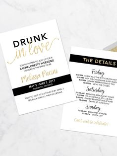 """Channel Beyoncé vibes with digital """"Drunk in Love"""" bachelorette party printable invitations to prep your bridesmaids for a wild wedding celebration."""