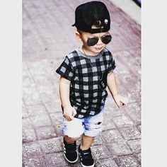 Little TY looking FLY in our Lumberjack plaid tee ✖️✖️✖️ LOVING everything about this little man's style @tys_threads thanks for the pic ⚡️⚡️⚡️ #miniandmaximus