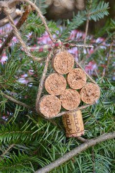 Ideias descoladas para o Natal usando rolhas