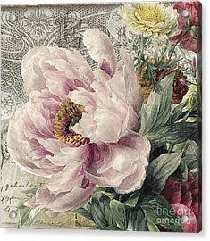 Paris Peony Acrylic Print by Mindy Sommers