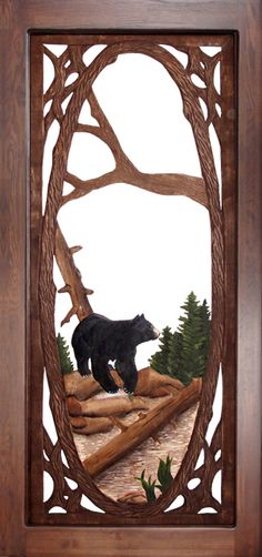 bear carved mirror - Google Search