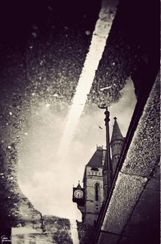 The Royal Courts of Justice in a puddle…by Gavin Hammond (from his photo series-London's Puddles Reflect the City's Beauty - My Modern Metropolis)