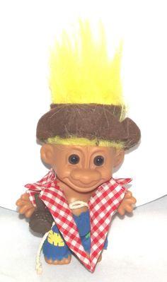 Vintage Troll Doll, Vintage Caveman Troll Doll (1970's/1980's) - VERY RARE by BeautifulVintageBits on Etsy