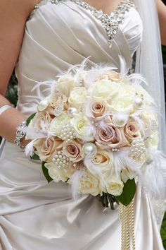 Flowers, and brooches bouquet ~ Lefebvre Photo  | bellethemagazine.com