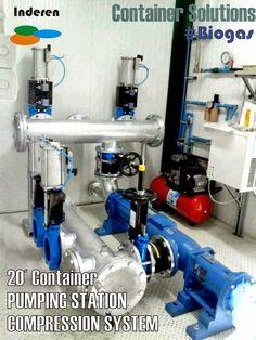 Sistema de bombeo tornillo helicoidal en contenedor de 20 pies para sustratos en planta de biogas kernel 500kw