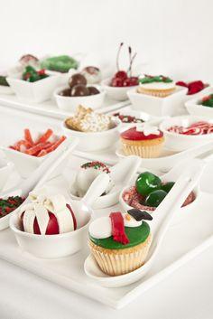 Pequeños y deliciosos pasabocas para todas las celebraciones. Ofrécelos en minitazones y cucharas para aperitivos.