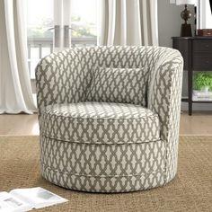 Alcott Hill Dmitri Swivel Barrel Chair Upholstery Color: B Swivel Barrel Chair, Swivel Armchair, Chaise Sofa, Chair Cushions, Barrel Table, Papasan Chair, Chair Upholstery, Sleeper Sofa, Living Room Seating