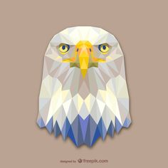 Vector geometric animals: Eagle