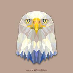 Vector geometric animals: Eagle