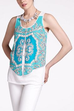 free flowing scarf to a tank top