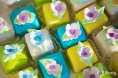Colorful flower Petit Fours!