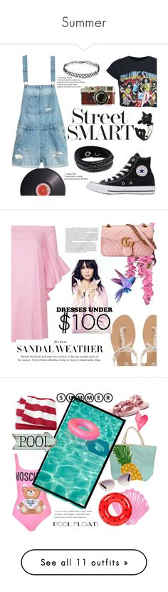 """""""Summer"""" by narminabasoffa ❤ liked on Polyvore featuring Joseph Joseph, Converse, Swarovski, Forever 21, Leica, Head Over Heels by Dune, River Island, Gucci, interior and interiors"""