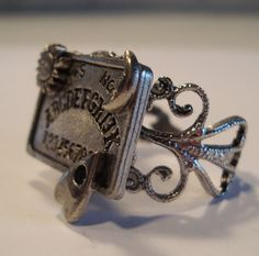 Victorian Goth THE OUIJA Filigree Silver-Tone Ouija Board Ring NEW Occult Witchboard Punk Psychobilly. $15.00, via Etsy.