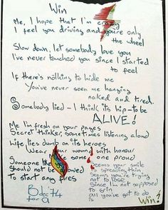 "200 Likes, 5 Comments - David Bowie Eternal (@david_bowie_eternal) on Instagram: ""Love his unique hand writing lyrics for the amazing song ""Win""  #DavidBowie #Bowie #Win…"""