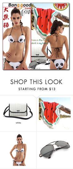 """Panda Bikini by Banggood 1/20"" by esma178 ❤ liked on Polyvore featuring Panda"