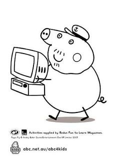 Peppa Pig Coloring Pages Printable Sketch Coloring Page Peppa Pig Coloring Pages, Elsa Coloring Pages, Mickey Mouse Coloring Pages, Valentine Coloring Pages, Quote Coloring Pages, Pokemon Coloring Pages, Coloring Pages For Boys, Mandala Coloring Pages, Coloring Books