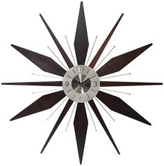 Shop a great selection of Infinity Instruments Utopia Mid-Century 30 inch Wood Metal Wall Clock, Walnut Dark Wood. Find new offer and Similar products for Infinity Instruments Utopia Mid-Century 30 inch Wood Metal Wall Clock, Walnut Dark Wood. Mid Century Modern Bedroom, Mid Century Decor, Mid Century Modern Furniture, Midcentury Modern, Dark Wood, Wood And Metal, Sunburst Clock, Glow, Modern Bedroom Furniture