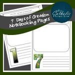 7 Days of Creation Notebooking Pages - Our Catholic Homeschool