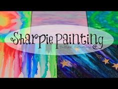 DIY Sharpie Watercolor Painting ((with alcohol)) - Galaxy, Tie Dye, & More.