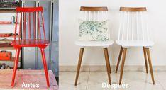 DIY pintar sillas de madera para darles un nuevo aire #decoración #bricolaje