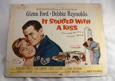 """1959 Movie """"It Started with a Kiss"""" Starring Glenn Ford"""