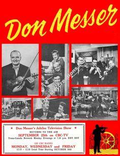 Don Messer's Jubilee Tribute Poster - Marg Osborne Charlie Chamberland East Coast