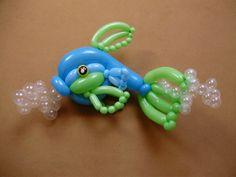 Delightful details on this balloon fish sculpture. Artist unknown.