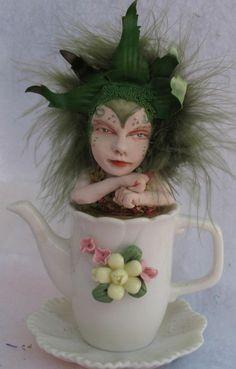 Teapot Tea Leaf OOAK Fairy http://cgi.ebay.com/ws/eBayISAPI.dll?ViewItem&item=161256990252