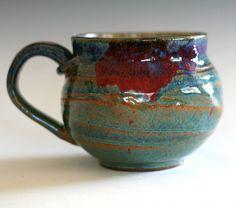 mug ceramics cup handle form. pot belly.