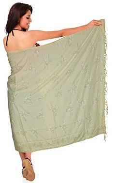 Bathing Suit Swimsuit Swimwear Sarong for Beach Wrap Bikini Cover up Pareo Rayon Beige One Size Spring Summer 2017 * To view further for this item, visit the image link.  This link participates in Amazon Service LLC Associates Program, a program designed to let participant earn advertising fees by advertising and linking to Amazon.com.