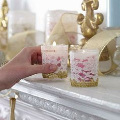 Easy DIY holiday crafts: Candle Christmas holders