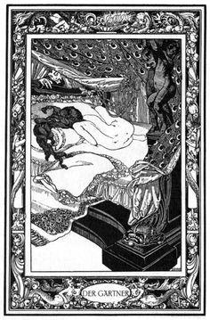 'Das Märchen aller Märchen oder Das Pentameron' by Giambattista Basile; illustrated by Franz von Bayros. Published 1909 by G.Müller, Munich & Leipzig.