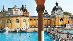 Széchenyi Baths: The most fun we had in Budapest. Go on a slightly chillier night and the water will feel even more amazing!